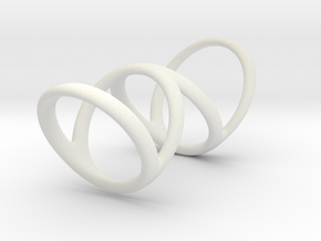 Ring for Bob L1 7-8 L2 1 3-8 D1 6 1-4 D2 6 3-4 D3  in White Natural Versatile Plastic