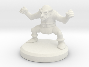 HeroQuest Goblin Miniature in White Natural Versatile Plastic