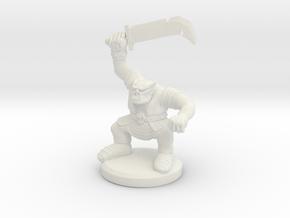 HeroQuest Orc Miniature in White Natural Versatile Plastic