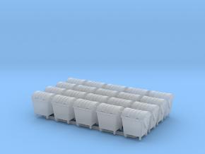 Abfallgroßbehälter 1:160 20x in Smoothest Fine Detail Plastic