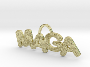 MAGA Texture Horizontal Pendant in 18k Gold Plated Brass