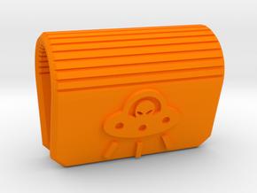 Alien Ship Webcam Privacy Cover in Orange Processed Versatile Plastic