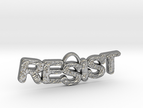 RESIST Texture Small Pendant in Natural Silver