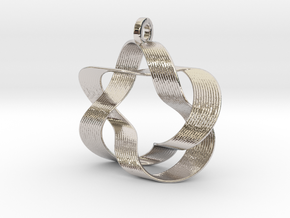 Mobius III (Downloadable) in Rhodium Plated Brass