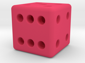 12mm designer dice  in Pink Processed Versatile Plastic
