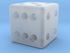 12mm designer dice  in Smooth Fine Detail Plastic