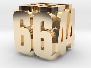 Luxury platinum dice in 14K Yellow Gold