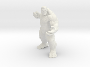 Hulk (Re-sized) in White Natural Versatile Plastic