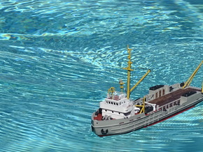 Supplier NVG6, Hull (1:200, RC) in White Natural Versatile Plastic