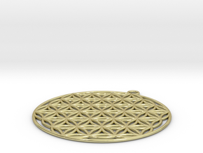 Flower of Life in 18k Gold Plated Brass