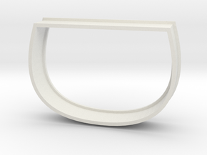 Sake Cup Cookie Cutter in White Natural Versatile Plastic