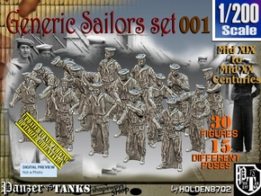 1/200 Generic Sailors Set001 in Smoothest Fine Detail Plastic