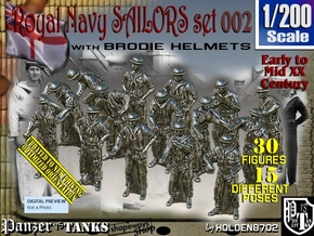 1/200 Generic RN Sailors Set002 in Smoothest Fine Detail Plastic