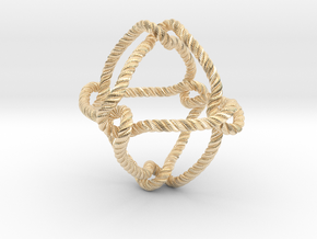 Octahedral knot (Rope with detail) in 14K Yellow Gold: Medium