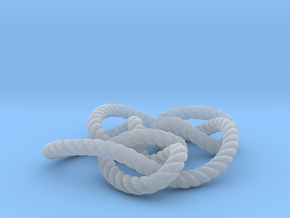 Knot 8₁₅ (Rope with detail) in Smooth Fine Detail Plastic: Large