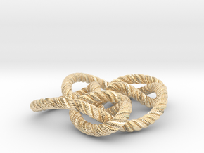 Knot 8₁₅ (Rope with detail) in 14k Gold Plated Brass: Large
