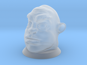 Ogre Head, Board Game Piece in Smooth Fine Detail Plastic