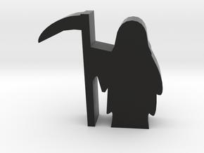 Game Piece, Grim Reaper Meeple in Black Natural Versatile Plastic