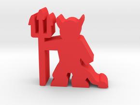 Game Piece, Devil in Red Processed Versatile Plastic