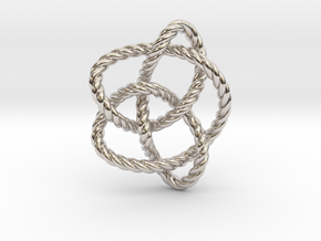 Knot 8₁₆ (Rope) in Rhodium Plated Brass: Extra Small