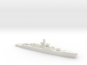 Whitby-class frigate, 1/2400 in White Natural Versatile Plastic