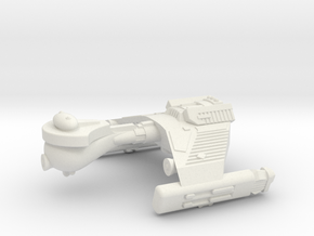 3788 Scale Klingon F5SK Refitted Scout Frigate WEM in White Natural Versatile Plastic