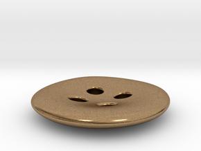 Asymmetrical designer buttons in Natural Brass