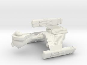 3788 Scale Klingon F6K Refitted Battle Frigate WEM in White Natural Versatile Plastic