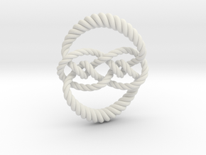 Knot 10₁₂₀ (Rope) in White Natural Versatile Plastic: Extra Small