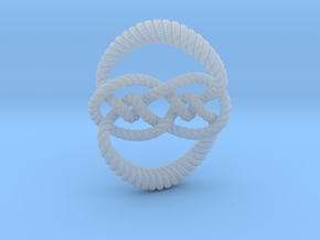 Knot 10₁₂₀ (Rope with detail) in Smooth Fine Detail Plastic: Large