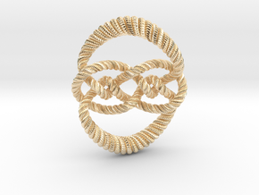 Knot 10₁₂₀ (Rope with detail) in 14K Yellow Gold: Large