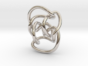 Knot 10₁₄₄ (Circle) in Rhodium Plated Brass: Extra Small