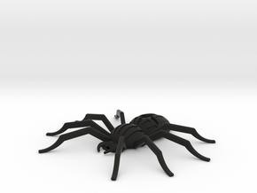 Orb-weaver spider pendant-brooch and pendant in Black Natural Versatile Plastic: Small