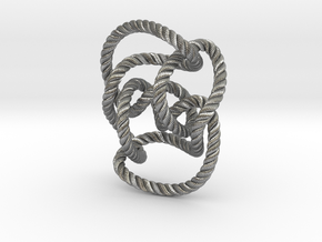 Knot 10₁₄₄ (Rope with detail) in Natural Silver: Large
