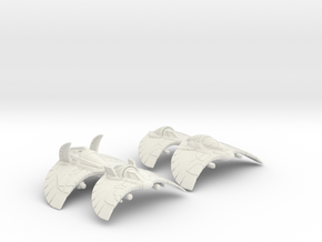 Glider Group Set: 1/270 scale in White Natural Versatile Plastic