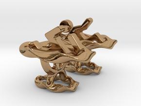 Portal ® Cufflink Set in Polished Brass