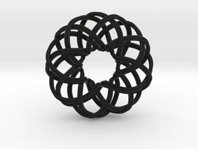 Rosa-8c3x (from $15) in Black Premium Versatile Plastic
