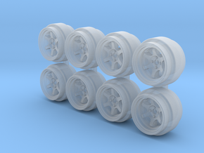 TE37V Hot Wheels Rims 7.3mm in Smoothest Fine Detail Plastic