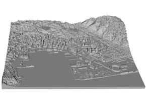 Map of Downtown Wellington, New Zealand  in White Natural Versatile Plastic