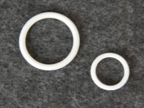 Knight's Belt Ring - 1:4 in White Natural Versatile Plastic