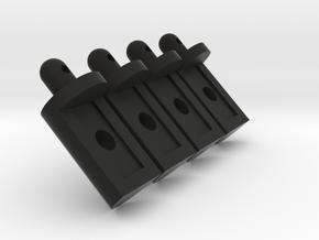 Tamiya Lunchbox Body Pegs in Black Natural Versatile Plastic