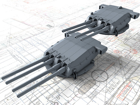 "1/400 Strasbourg 330 mm/50 (13"") Model 1931 Guns in Frosted Ultra Detail"