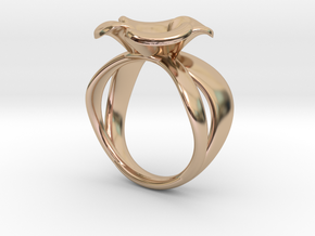 The Little Briar Rose in 14k Rose Gold Plated Brass