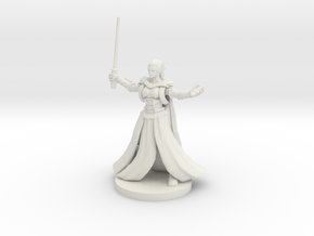 Blind Elven Sorceress in White Natural Versatile Plastic