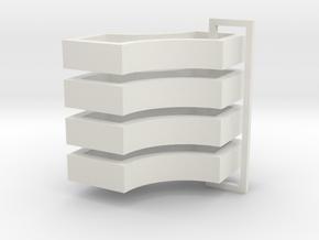 Parkhecke quadratisch doppelt ausgerundet (Buchsba in White Natural Versatile Plastic