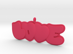 41 - LOVE-double-hearts in Pink Strong & Flexible Polished: Small