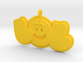 43- LOL-SMILEY FACE  in Yellow Strong & Flexible Polished: Extra Small