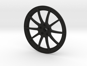 Racing Wheel Cover 12_56mm in Black Strong & Flexible