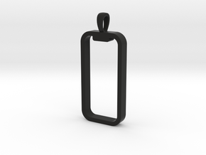 'Embrace The Notch' Phone Pendant / Keychain in Black Premium Versatile Plastic
