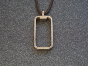 'Embrace The Notch' Phone Pendant / Keychain in Polished Nickel Steel